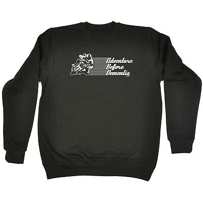 Funny Kids Childrens Sweatshirt Jumper - Superbike Adventure Before Dementia