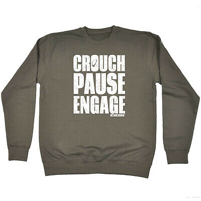 Funny Kids Childrens Sweatshirt Jumper - Uau Crouch Pause Engage