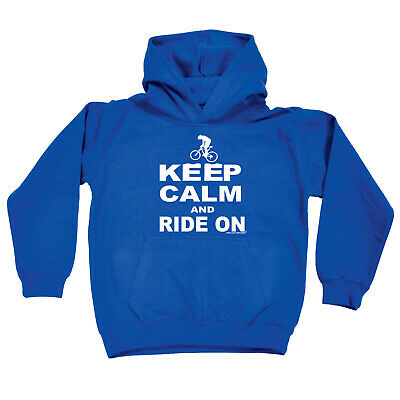 Cycling Kids Childrens Hoodie Hoody Funny - Cycling Keep Calm And Ride On