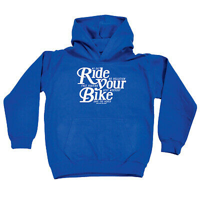 Cycling Kids Childrens Hoodie Hoody Funny - Cycling Ride Your Bike