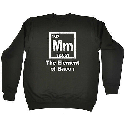 Funny Kids Childrens Sweatshirt Jumper - The Element Of Bacon