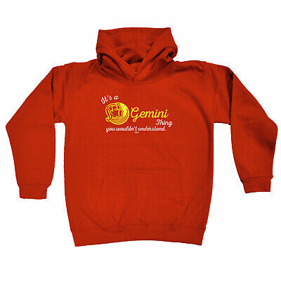 Funny Kids Childrens Hoodie Hoody - Star Sign Its A Gemini Thing You Wouldnt Und
