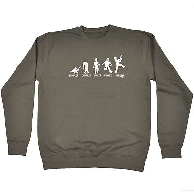 Funny Kids Childrens Sweatshirt Jumper - Zombie Crawler Shambler Walker Runner T