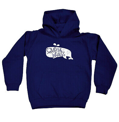 Funny Kids Childrens Hoodie Hoody - Save The Whales