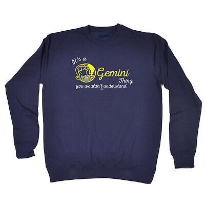 Funny Kids Childrens Sweatshirt Jumper - Star Sign Its A Gemini Thing You Wouldn