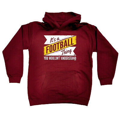 Funny Kids Childrens Hoodie Hoody - V2 Football Thing Surname
