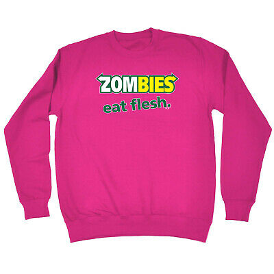 Funny Kids Childrens Sweatshirt Jumper - Zombies Eat Flesh