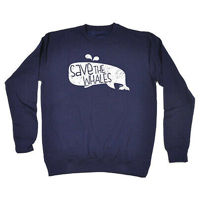 Funny Kids Childrens Sweatshirt Jumper - Save The Whales