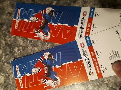 Pittsburgh vs canadiens 2 tickets 117 S 1 ,2 2/03/19