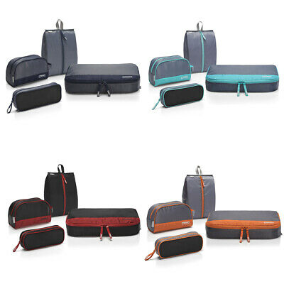 4pcs Waterproof Travel Clothes Storage Bags Luggage Organizer Pouch Packing W4B7