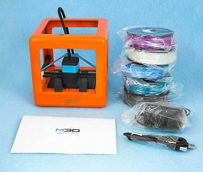 NEW Micro M3D Printer - Includes 5 NEW sealed 250' Spools of M3D Filament