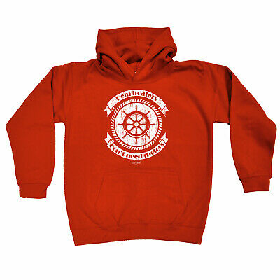 Sailing Kids Childrens Hoodie Hoody Funny - Real Boaters Dont Need