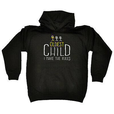 Funny Kids Childrens Hoodie Hoody - Oldest Child 3 Make The Rules