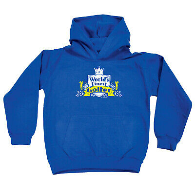 Golfing Kids Childrens Hoodie Hoody Funny - Golf Worlds Finest Golfer