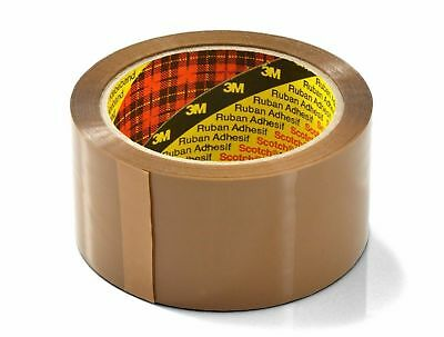 Pack Of  6 X Parcel Box Packaging Sealing Tape Scotch 3M Buff Brown 48mm x 66m