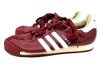 best sneakers 79834 316f8 Adidas Samoa Mens Leather Shoes Size 11 Maroon   Burgundy   White Art   G22593