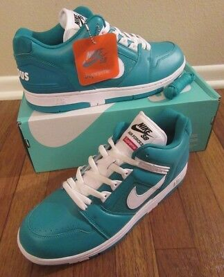 e7c25d576d9b SUPREME x NIKE SB Air Force 2 LOW Size 11.5 Teal Emerald AA0871 313 AF2 NIB