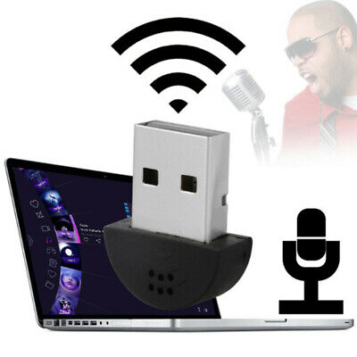 Mini USB Microphone Laptop PC Computer Desktop Audio Studio Recording KTV Mic