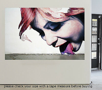 Large Art Painting Street Tongue Lips Abstract  Urban Canvas Australia by Pepe