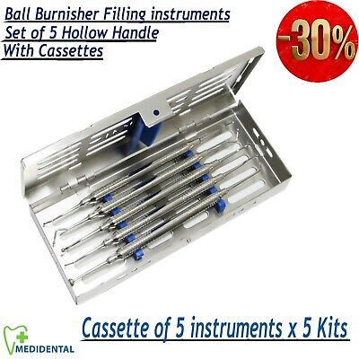 Ball Burnisher Set of 5, Dentist Amalgam Filling Instruments Composite pack of 5