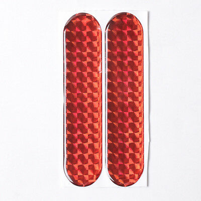 2Pcs/Set Red Car Door Reflective Strip Sticker Tape Safety Warning Acces