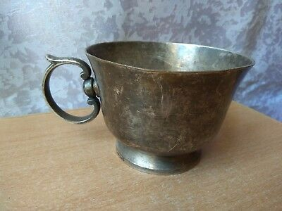 RARE Antique OLD Vintage Bronze silver plated Cup Christofle №758628