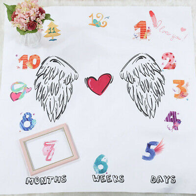 Clock Time Blanket Photo Photography Decorative Baby Child Boy Girl Angel Wings