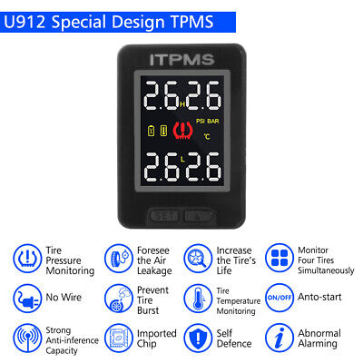 Car Auto TPMS Tire Tyre Pressure Monitoring System + 4 Sensors for Toyota MA1759