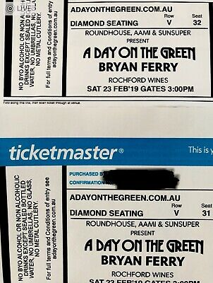 2 Tickets to Bryan Ferry a Day On The green, Rochford Wines < Diamond Seating >