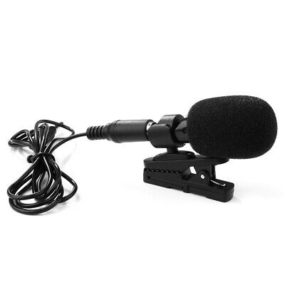 Clip Lapel Lavalier Microphone 3.5mm Jack per iPhone Cell Phone Recording TH426