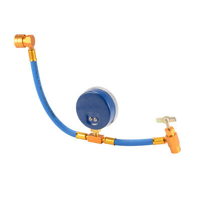 """R134a Recharge Hose 1/2"""" ACME Can Tap Car Air Conditioning Pressure Gauge MA1274"""