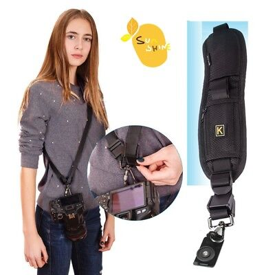 Camera Belt Black Single Neck Shoulder Strap Sling for DSLR Sony Canon Nikon New