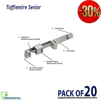 Pack Of 20 New Tofflemire Senior Matrix Bands & Retainers Holder Dentistry Tools
