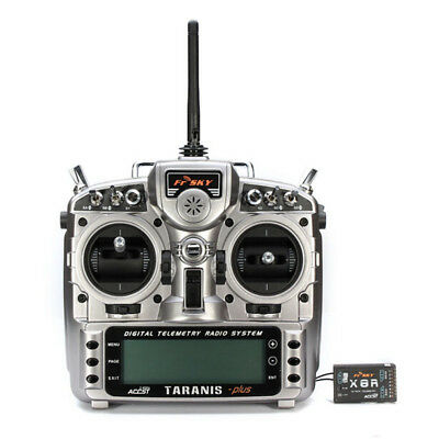FrSky Taranis X9D Plus 2.4G 16ch Digital RC Transmitter Remote with X8R Receiver