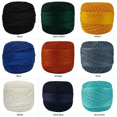 Cotton Crochet Thread Set of 10 Spools Knitting Doilies Skeins Craft Mercerized