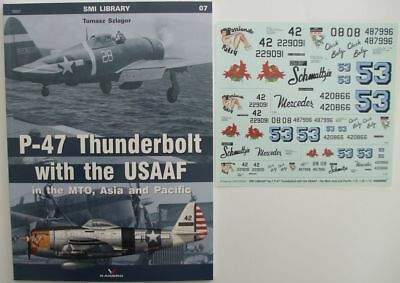 P-47 Thunderbolt with the USAAF - MTO, Asia and Pacific- Kagero + Free decals !!