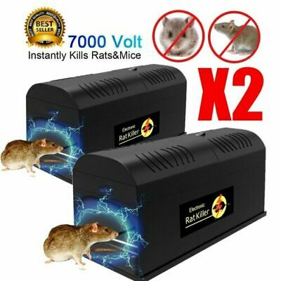 7000V Electronic Rat Traps Effective Killer Mice Zapper indoor/warehouse/office