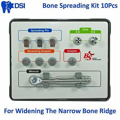 DSI Dental Implant Surgical Bone Spreading Kit Narrow Ridge Split Tool Wide