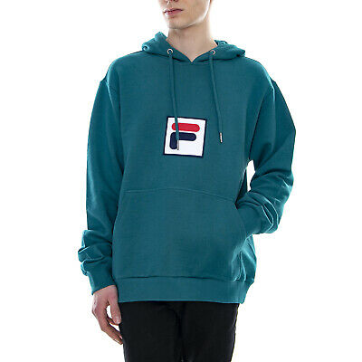 Fila Shawn Hooded Sweat Green - Felpa Con Cappuccio Da Uomo Verde