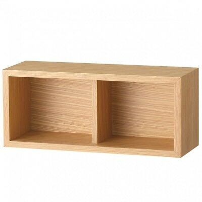 MUJI Furniture can be attached to gypsum board Box Oak wood W44XD15.5XH19cm MoMA