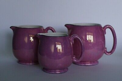 Grays Pottery - Pink Lustre Set of Graduated Jugs for MAPLE - Early 1920s