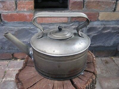 Antique Metal Kettle Decor Piece - Unusual Early 20th Century - Small Leak