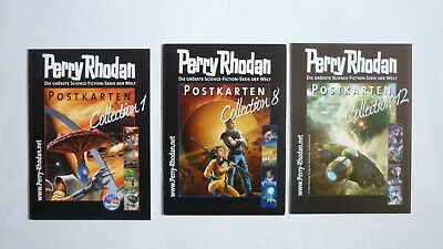 Perry Rhodan   Postkarten Collection  Nr. 1 und Nr. 8 und Nr. 12