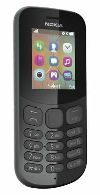"Nokia 130 Unlocked SIM-Free Mobile Phone 2.4"" LCD Display16MB RAM BLACK"