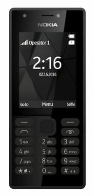 "Nokia 216 Unlocked SIM-Free Mobile Phone 2.4"" LCD Display16MB RAM BLACK"