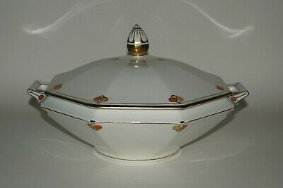Grays Pottery - Early Hand Painted Octagonal Tureen & cover - patt. 2819 c.1923