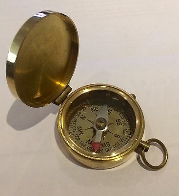 Great Soild Brass Collectable Compass