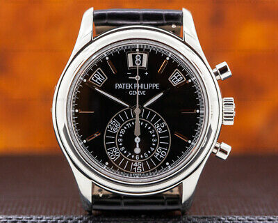 Patek Philippe 5960P-016 Annual Calendar Chronograph BLACK DIAL BOX AND PAPERS