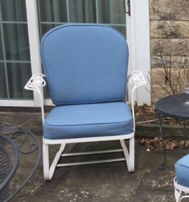 Woodard Chantilly Rose Chaise Bounce Spring Chair w/ Cushions Local Pickup Iron