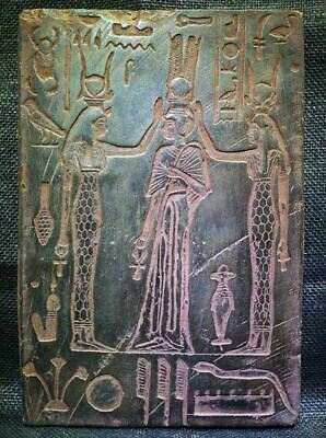 Egyptian Antiques Antiquities Hathor Isis Nefertari Stela Relief 1280-1214 Bce